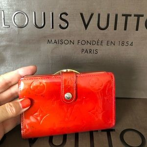 Louis Vuitton Red Monogram Vernis French Wallet